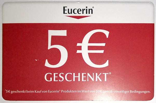 Aktion Eucerin 5 Eur 2019