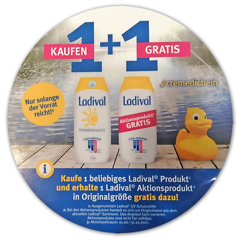 Ladival 1+1 Aktion - 1 Produkt kaufen, 1 Aktionsprodukt gratis dazu